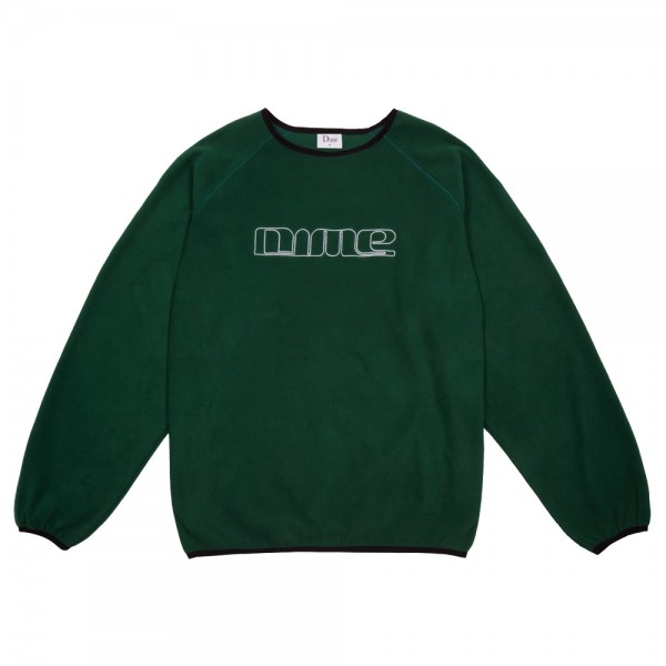 Sweat Polaire Dime Polar Fleece Crewneck Forest Green