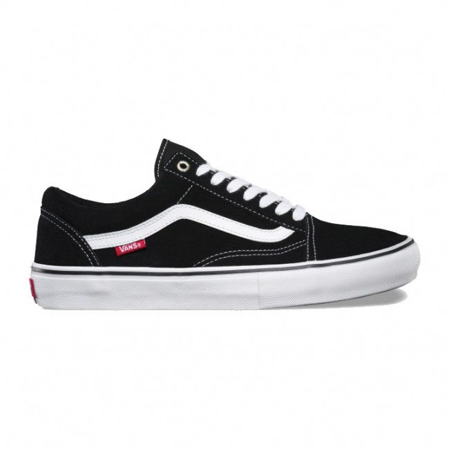 bec7acb97e1 Chaussures Vans Old Skool Pro Black White - skate shoes VANS noire ...