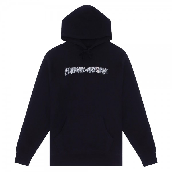 Sweat Capuche Fucking Awesome Actual Visual Guidance Hoodie Black