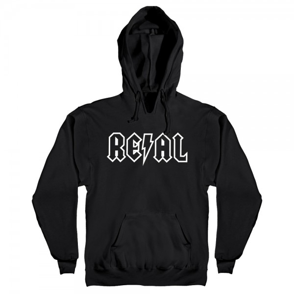 Sweat Capuche Real Deeds Outline Black