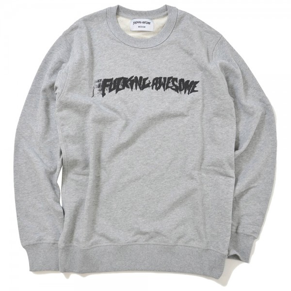 Sweat Crewneck Fucking Awesome Stamp Grey Heather