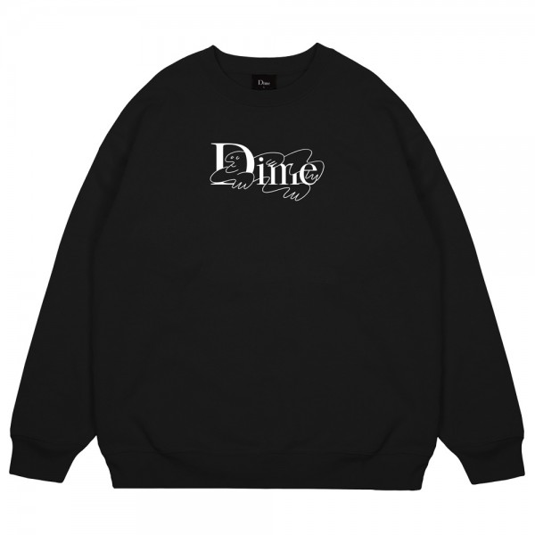 Sweat Dime Crewneck Chilling Classic Logo Black