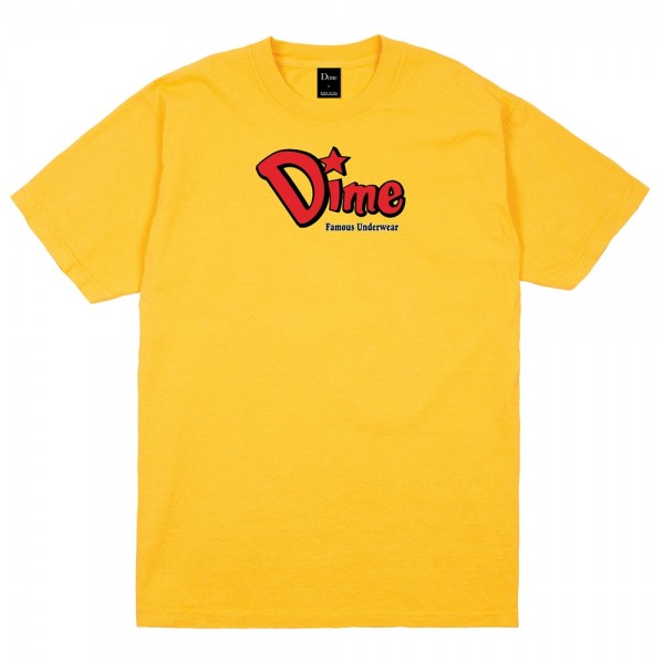 Tee Shirt Dime Famous Underwear Gold