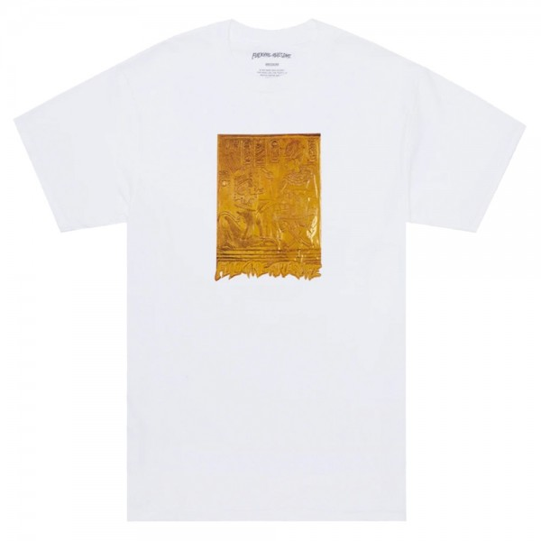 Tee Shirt Fucking Awesome Gold Hieroglyphic Tee White