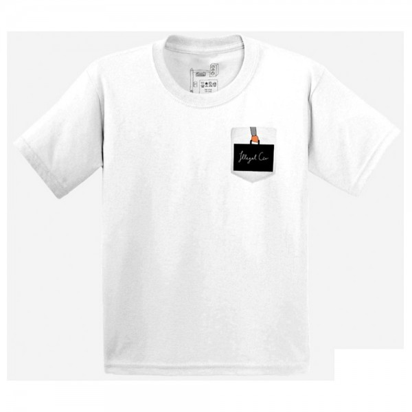 Tee Shirt Illegal Civilization Briefcase Pocket White