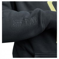 Sweat Capuche Piss Drunx Logo Black Gold EMB