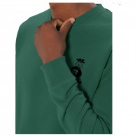 Sweat Crew Nozbone Dépôt Sauvage Logo Bottle Green