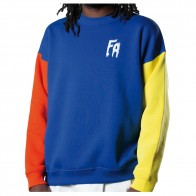 Sweat Fucking Awesome FA Primary Crewneck Red Navy Yellow