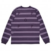 Tee Shirt Manches Longues Pop Trading Company Stripe Long Sleeve Dark Purple Violet