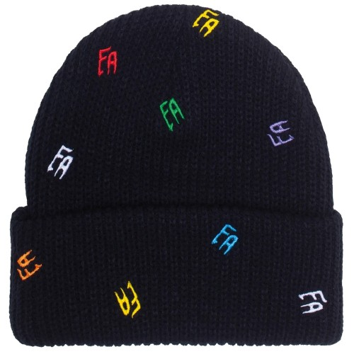 Bonnet Fucking Awesome Scattered FA Cuff Beanie Black