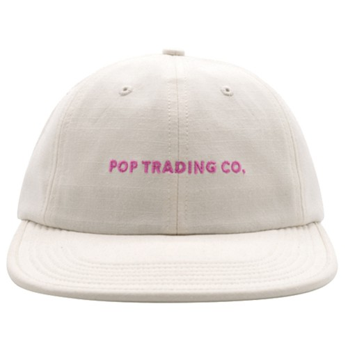 Casquette Pop Trading Company Flex Foam 6 Panel Hat Off White Pink