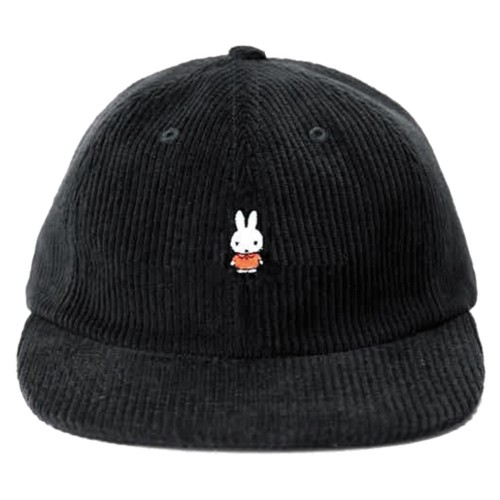 Casquette Pop Trading Company x Miffy Cord 6 Panel Hat Black