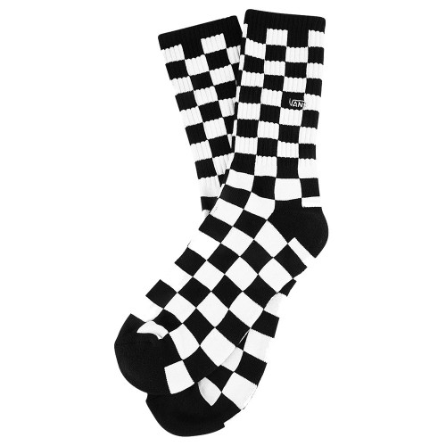 Chaussettes Vans Checkerboard Crew Black White