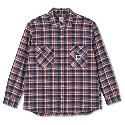 Chemise Polar Flannel Shirt Navy Red