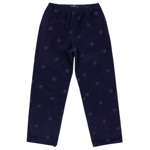 Pantalon Bronze All Over Embroidered Pant Navy