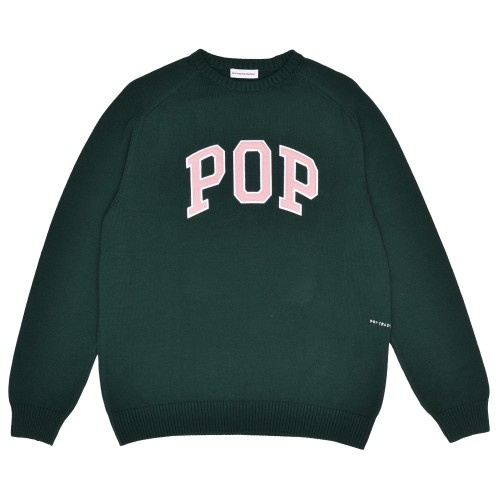 Pull Pop Trading Company Arch Knitted Crewneck Bistro Green