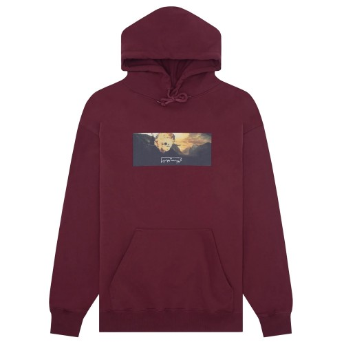 Sweat Capuche Fucking Awesome Explosion Hoodie Maroon