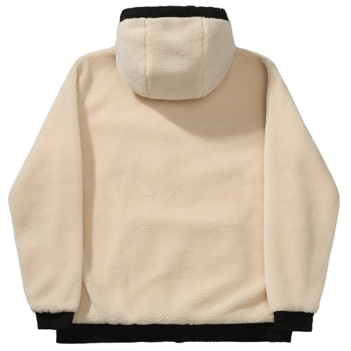 Sweat Capuche Polaire Helas Cozy Hoodie Off White