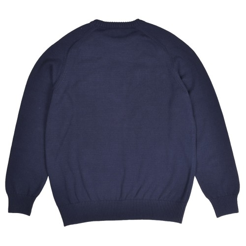 Sweat Pop Trading Company Arch Knitted Crewneck Navy