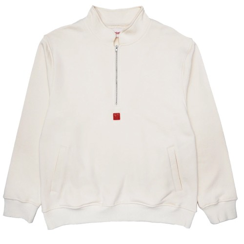 Sweat Victoria HK x Yat Pit Half Zip Ango Sweater Cream