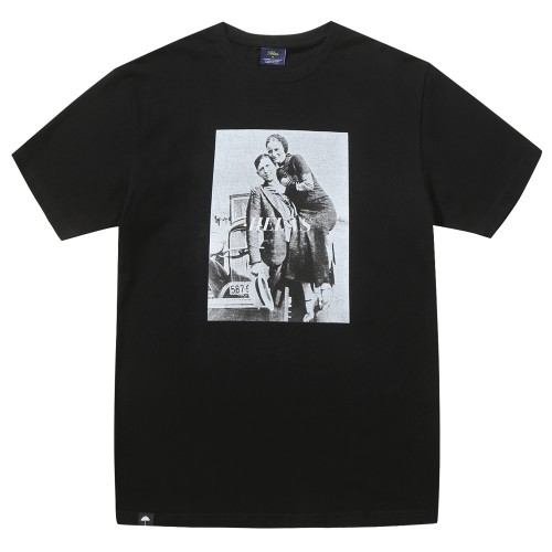Tee Shirt Helas Bonnie And Clyde Tee Black