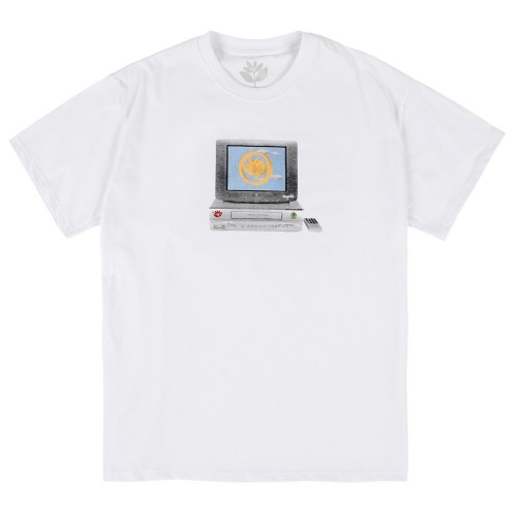 Tee Shirt Magenta VCR White
