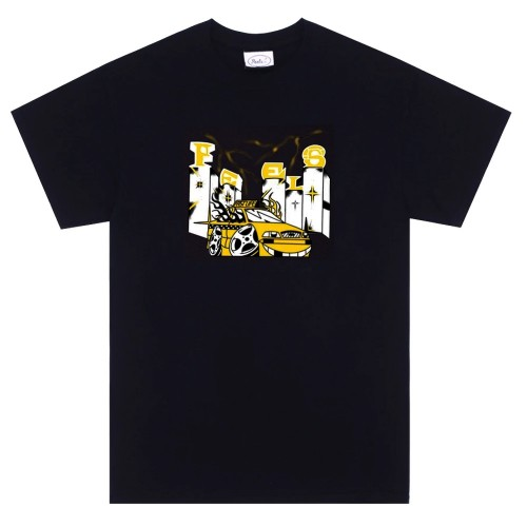 Tee Shirt Peels Taxi by Alehsy Black