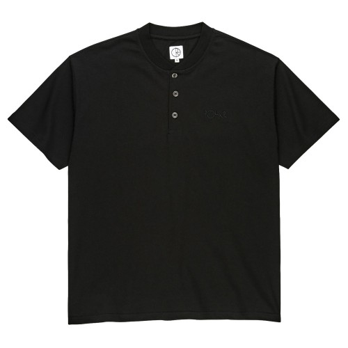 Tee Shirt Polar Henley Tee Black