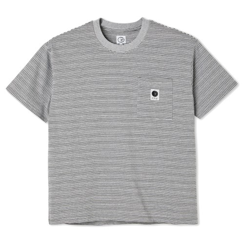 Tee Shirt Polar Stripe Pocket Tee Grey