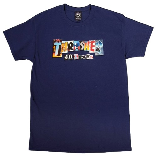 Tee Shirt Thrasher 40 years Navy