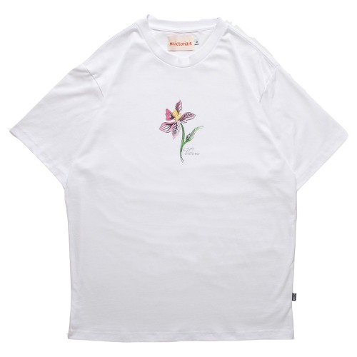 Tee Shirt Victoria HK Orchid Tee White