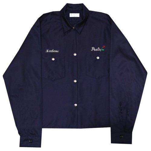 Veste Peels 90's Light-weight Work Snap Buttons Jacket Navy